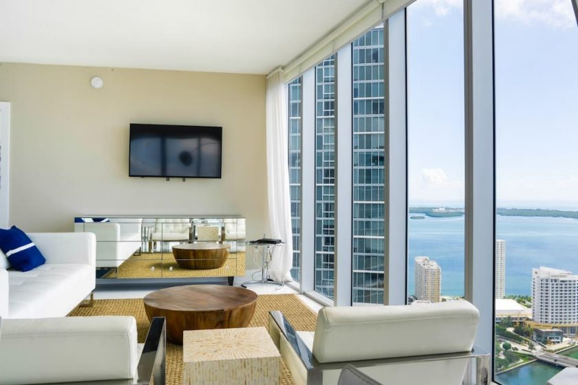 Get a comfortable and luxurious feel inside the Brickell restaurant